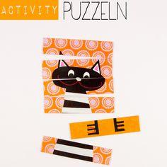 Anleitung für ein Activity-Spiel: Ein Puzzle aus Postkarten. Perfekt für lange Autofahrten. Ein Tutorial von johannarundel.de