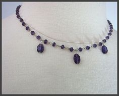 SALE-Amethyst and Sterling Silver Necklace