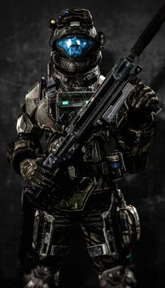An Odst from Halo Halo Game, Halo 5, Armadura Sci Fi, Odst Halo, Halo Cosplay, Halo Armor, Halo Spartan Armor, Tactical Armor, Halo Series