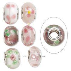 Lampwork Glass - Pink $NZ3.90 each