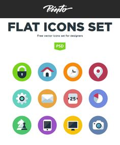 Flat icon is a free project, created for and by designers and developers. In this post we are displaying an Amazing Collection of Free Flat Icons 2014