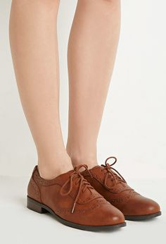 Faux Leather Brogues | Forever 21 - 2000156196