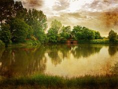 Old Mill Pond in Lodz, Poland