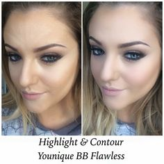 Tried the highlighting and Contouring myself in Cream BB Flawless and Caramel BB Flawless!