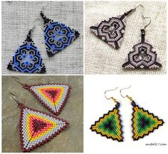 Love these beaded triangle earrings ...!