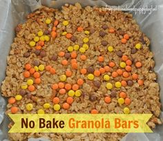 Easy Granola Bars bybFSPDT- great activity for the kids and great snack too