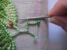 Irish Crochet. Even edge of uneven net. Master Class from Olgemini.
