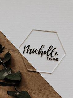 Acrylic Hexagon 3 Inch Place Cards Wedding/Part Escort Cards Candle Wedding Favors, Beach Wedding Favors, Wedding Favor Tags, Wedding Souvenir, Nautical Wedding, Wedding Name, Wedding Place Cards, Wedding Scene, Wedding Flowers