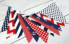 Banner Bunting Photography Prop Fabric Flags by thespottedbarn