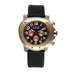 Equipe E210 Grille Mens Watch - made to recall an automobile. i like the shape, the two tone, and the rivets.  Stainless steel and rubber, crystal face, made in USA.  Retail $549 but $129 on TouchofModern.com flash sales site ..... Aug 2012