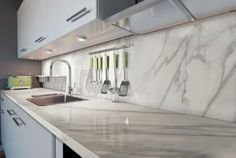 AVA Ceramica - EXTRAORDINARY SIZE Collection - Made in Italy - #calacatta #kitchen - www.avaceramica.it