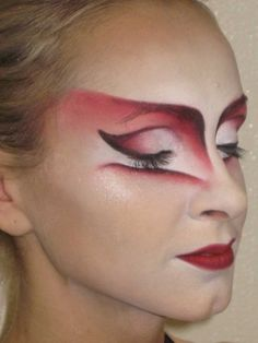 Cirque du Soleil, O, character Crazy Mariee. Make up design by Natalie Gagne, applied by Kathleen Price.