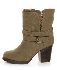 oh hai, why is you nots already in my closets?! - Qupid Rosdale 11 Dark Taupe Tapestry Convertible Boots