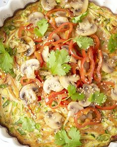 Aziatische omelet uit de oven - One pot rezepte Easy Omelet, Omelette Ideas, Healthy Omelette, Breakfast Omelette, Healthy Food Choices, Good Healthy Recipes, Low Carb Cheesecake Recipe, Tortilla, Light Recipes