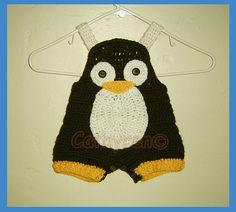 Patrón de ganchillo bebé pingüino general por CathyrenDesigns