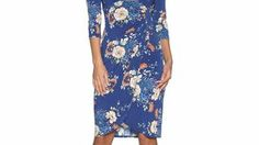 1221701navy_oriental wrap dress - M and Co