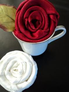 folded napkin for table setting