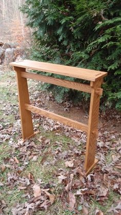 This solid oak Mission style, or Arts and Crafts quilt rack can be easily assembled or disassembled by removing the keys on the stretchers. This style of furniture was a backlash to the overly ornate Victorian period. Starting around 1910; this period has many sub category names with minimal differences such as, Craftsman style, Mision Style, and Green and Green. The period carried through society in many forms.