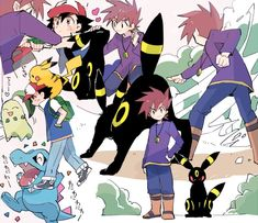 Pokemon Tv, Pokemon Ships, Pokemon Stuff, Gary Oak, Pokemon Couples, Catch Em All, My Childhood, Character Design, Manga