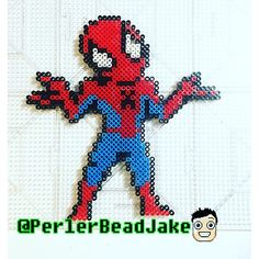 Spider-Man perler beads by PerlerBeadJake