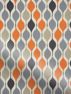 Marvelous A funky us geometric pattern this Retro Shapes orange roller blind is incredibly en