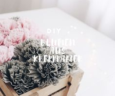 DIY/Bastelideen Archive - Seite 11 von 17 - Boho and Nordic Crepe Paper Flowers, Diy Flowers, Pretty Flowers, Diy Interior, Unique Recipes, Diy Paper, Diy Art, Decoration, Flower Power