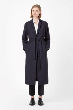 Long tie-waist blazer