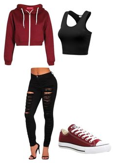"""Hi"" by oaken-shield ❤ liked on Polyvore featuring beauty and Converse"