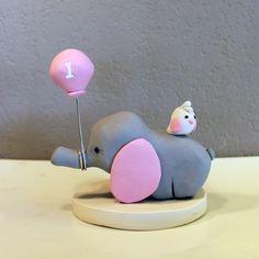 Elephant Custom Cake Topper for Birthday or Baby Shower via Etsy