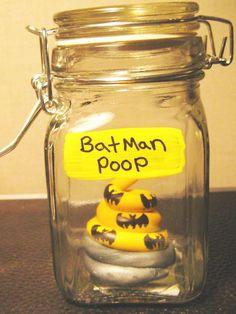 Batman Poop in a Jar/ Specimen Jar / Comic Book/ Unicorn poop/Fantasy Geekery Voodoo Zombie, Fairy, Oddities Shelf on Etsy, $18.13 CAD