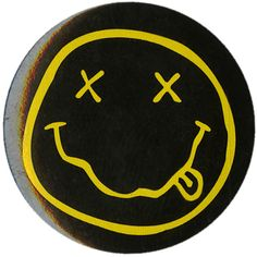 Nirvana Smiley Pin | Hot Topic ($1.59) ❤ liked on Polyvore featuring jewelry, brooches, accessories, vintage broach, vintage pin brooch, vintage jewelry, pin brooch and vintage jewellery