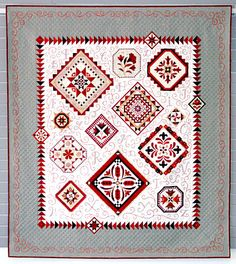 """""""Red Letter Daze"""" by Janet Stone.  Best in Show at Machine Quilting Expo 2011"""
