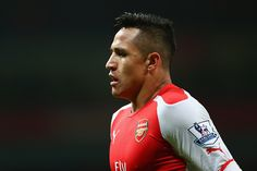 Alexis Sanchez of Arsenal  during the Barclays Premier League match between Arsenal and Southampton at the Emirates Stadium on December 3, 2014 in London, Englan