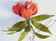 Мастер-класс изготовления кулона с цветами рябчика императорского из фоамирана, пошаговые фото
