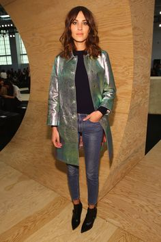 Pin for Later: Jean-ius! What You Can Expect to See From Alexa Chung's New Denim Collab Alexa Chung + AG Jeans Styled up or down, Alexa knows how to work a great pair of skinnies.
