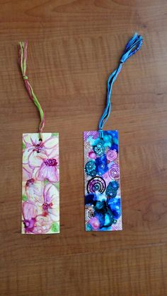ALCOHOL Ink bookmarks