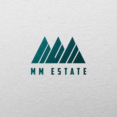 MM Estate - Logo Design concept. Unique & Fresh Logo design.