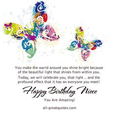 nice happy birthday to an amazing | You make the world around you shine bright because of the beautiful ...