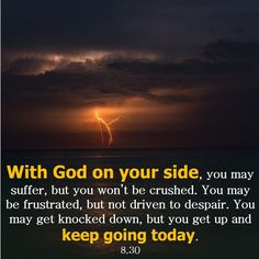 AUGUST 30: With God on your side, you may suffer, but you won't be crushed. You may be frustrated, but not driven to despair. You may get knocked down, but you get up and keep going today. #2Corinthians4 #inspirational @horoscope @astrology #WithGodonYourSide