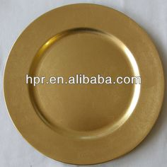 Plastic Gold Wedding Charger Plates $0.5~$1