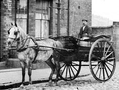 Cowkeeper's delivery cart in Liverpool