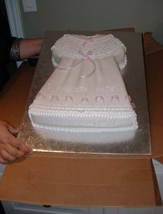 Baptism Dress Cake