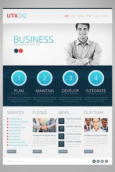 Template 44813 - Business Responsive Drupal Template  with Intro Slideshow, Gallery, Blog and Admin Panel