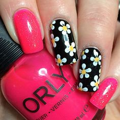 #ShareIG I really love this mani, I will be gutted when I take it off! I used @orlynails Va Va Voom topped with @chinaglazeofficial Fairy Dust and @aengland_official Camelot for the base of the flowers  (edit) I was in such a rush this morning to type this out and get it posted I forgot to mention these where inspired by @jemmypuddleduck I'm so bloody forgetful  please check hers out they are stunning! xx