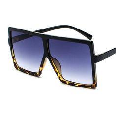 f28f7d352f3 Color  Leopard  10.97 Brand Designer Big Frame Oversized Vintage Sunglasses  for Women – www.