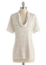 Overnight Travel Top in White Pepper | Mod Retro Vintage Short Sleeve Shirts | ModCloth.com | $32.99