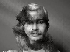 Changing faces in a single photo - video animation morphing what appears to be hundreds of faces seamlessly into one another