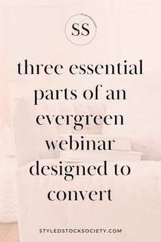 3 essential elements your webinar design needs to convert signups into sales - webinar launch plan strategies for your online course or program from Styled Stock Society #webinar #digitalmarketing Sales Strategy, Digital Marketing Strategy, Marketing Strategies, Content Marketing, Social Media Marketing, Successful Online Businesses, Essential Elements, Instagram Tips, Pinterest Marketing