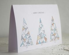 Clouds of Colour - Christmas card geometric tree