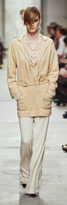 Wide leg slacks all over Fall 2013 runways and Spring '14. Here: Chanel Resort 2013-14